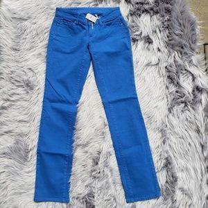NWT Ann Taylor Slim Leg Jeans blue sz 0P